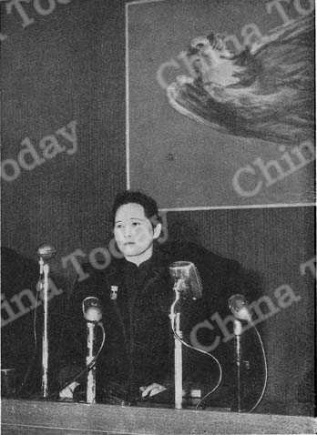 Soong Ching Ling (Mme. Sun Yat-sen), renowned fighter for peace and democracy in China and the world, is Chairman of the China Welfare Institute and the People's Relief Administration of China. She was awarded the Stalin International Peace Prize in 1951.