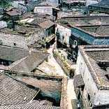 Conserved Ming and Qing dynasty architecture in Hongjiang old town.