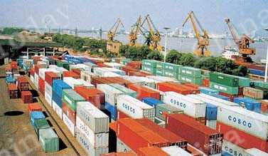 Wuhan has become a major shipping hub, as evidenced by the activity at the city's Hanyang Container Wharf.