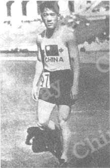 Liu Changchun war der einzige Sportler aus China bei der 10. Olympiade in Los Angeles 1932